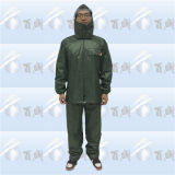 Durable Polyester Coating Rainsuit & Rain Suit with Hood