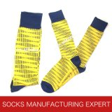 Men′s Comb Cotton Dress Socks