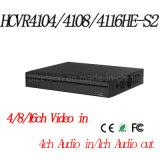 (4/8/16CH Tribrid 720P-Lite Mini 1U HDCVI DVR) {Hcvr4104/4108/4116he-S2}