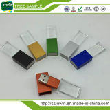 Crystal 16GB USB Pen Drive with 3D Logo Customized
