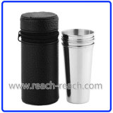 Stainless Steel Cup Set Match Hip Flask (R-HF052)