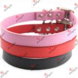 Wholesale Colorful PU Plain Leather Pet Collars Cheap Price (PC15121414)