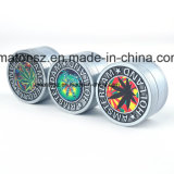 Zinc Alloy Amsterdam Leaf 40mm 3 Parts 4 Parts Herb Tobacco Grinder for Smoking