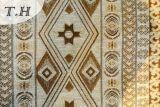 Light Yellow Diamond Chenille Jacquard Sofa Fabric Pattern (FTH31714)