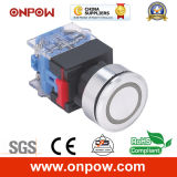 Onpow 30mm Push Button Switch (LAS0-K30-11EA/R/12V, CE, CCC, RoHS)
