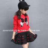 Girls′ Long Sleeve T-Shirt and Skirt Suit Children Clothes