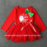Girls′ Christmas Long Sleeve Skirt Children Clothes