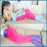 Flannel Fleece Mermaid Blanket Plaid for Bed