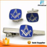 Pinstar Factory Wholesale High Quality Masonic Freemason Men′s Gold Cufflink Cuff Links