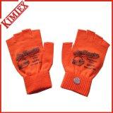 100% Acrylic Promotional Customs Short Knitted Fingerless Glove