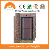 8W Red Waved Solar Roof Tile