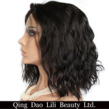 """Short Bob Human Hair Lace Front Wigs for Black Women with Baby Hair Nature Color Brazilian Non-Remy Hair 10-30"""""""