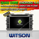 Witson Android 4.4 Car DVD for KIA Forte/Cerato/Koup with Quad Core Rockchip 3188 1080P 16g ROM WiFi 3G Internet Font DVR Picture (W2-F9528K)