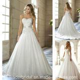 Chiffon Wedding Dress A-Line Crystal Belt Vestidos Beading Bridal Wedding Gown H20168