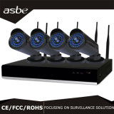 4CH 960p WiFi P2p NVR Kits CCTV Systems Security Equipment with Blue LEDs
