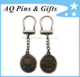 3D Logo Key Chains in Copper Plating