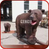 Life Size Model Animatronic Brown Bear