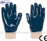 Blue Nitrile Fully Coated Oil Proof Safety Work Gloves