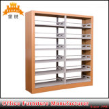 Jas-064 Hot Sale Wood Color Metal Library Book Storage Racks