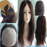 100% Human Hair Wig Can Be Styled with Lace Base