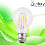 130lm/W High Lumens A60 E27 6W Filament LED Bulb