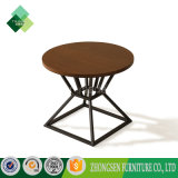 Top Selling Cheap Stainless Steel Wooden Round Coffee Table