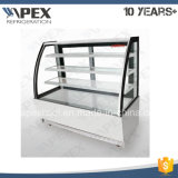 Curve Glass Cake Showcase Cooler for Cake Display with Ce, CB, Saso