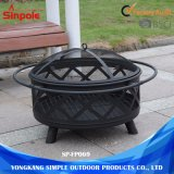Steel Round Lowes Outdoor Ceramic Fire Pits with Lid