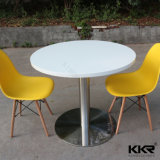 2 Person Pure White Acrylic Solid Surface Coffee Shop Table