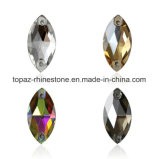 Tortoised Boat Crystals Beads Rhinestones Long Drop Accessories Sew on for Dress Stones 2 Hole (TP-Tortoised Boat)