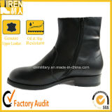 Women Military Shoes with Side Zipper