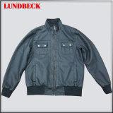 Black Men′s PU Jacket with Good Quality