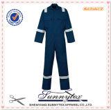 Mens Stripe Hi Vis Workwear Overall Uniform