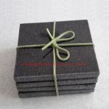 Black Granite Drink Coaster /Stone Drink Coaster /Stone Coaster Set of 4PCS