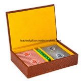 Leather Case Magnetic Closure Travel Game Paper Card Set