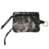 Camouflage Checked Fabric Made Coin Pouch