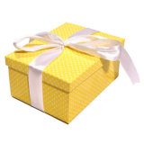 Printing Yellow Christmas Small Paper Gift Box