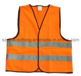 Orange High-Vis Vest with Reflective Tape (ELTHVJ-137)