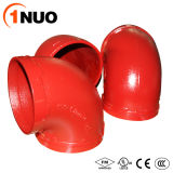 1nuo Grooved Casting Ductile Iron Pipe Fittings 90 Degree Elbow