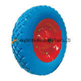 3.50-8 PU Foam Wheelbarrow Wheels Trolley Wheels with Steel Rim Flat Free