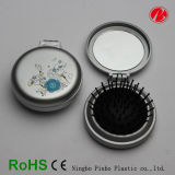 Folding Mini Hair Brush with Mirror (PT7312-B)