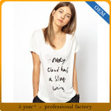Cusotm 100% Cotton Women′s Short Sleeve Printed Clothing