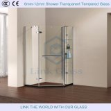 6mm-12mm Shower Transparent Tempered Glass with Grooves/Notche/Holes/Hinges Polished Edges
