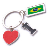 New Custom Metal Souvenir Brazil Keyring