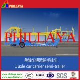 Double Axles Hydraulic Cylinder Car Carrier Trailer Transportation Vehicle