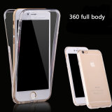 360 Degree Full Body Clear Transparent Protected Soft TPU Phone Case for iPhone 7