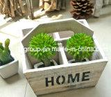Square White Handled Delicate Plants Holder
