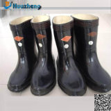 Paypal Accept High Quality Black Nature Rubber Industrial Safety Boot