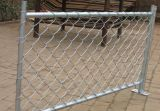 China Anping Galvanized and PVC Coated Chain Link Security Fence Mesh (Factory PVC &Galvanized)