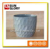 Grey Ceramic Flowerpot of Gyp065